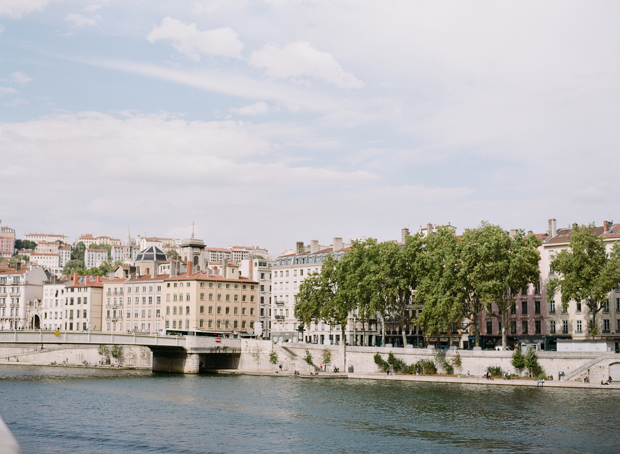 """A view of Lyon, the """"Paris of the south"""" with the river in the foreground; photo by Sylvie Gil"""