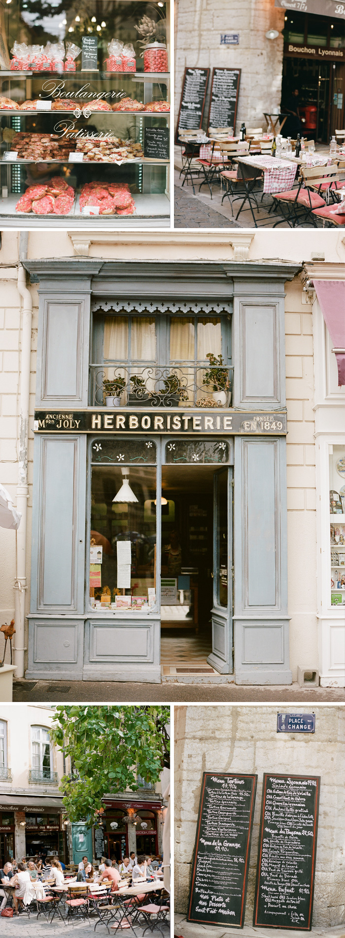 A boulangerie and several charming storefronts spotted in Lyon; photo by Sylvie Gil