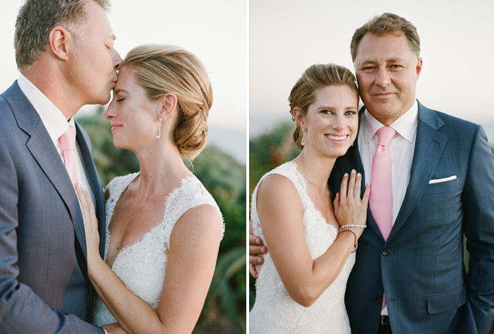 Margo & Tanguy share romantic moments during a couple shoot following their Laguna Beach wedding ceremony; photo by Sylvie Gil