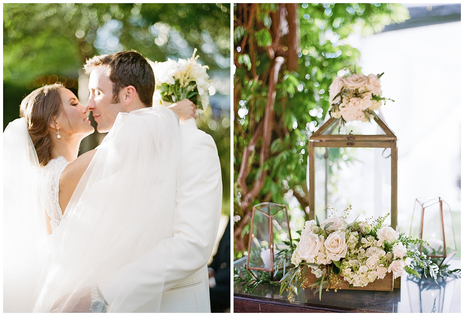 Bride and groom kiss after ceremony in Yountville, Napa Valley; Sylvie Gil Photography