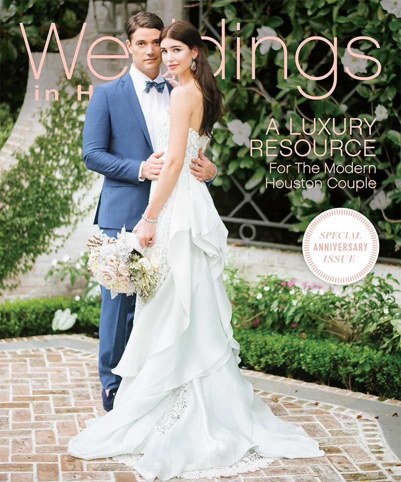 30th anniversary cover of Weddings in Houston; photo by Sylvie Gil