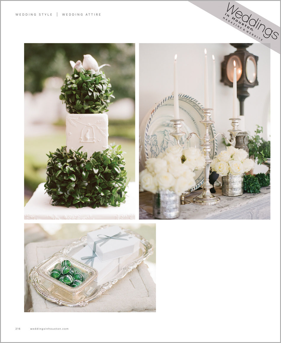 Details from 'A Manor of Style' featured in Weddings in Houston; Sylvie Gil