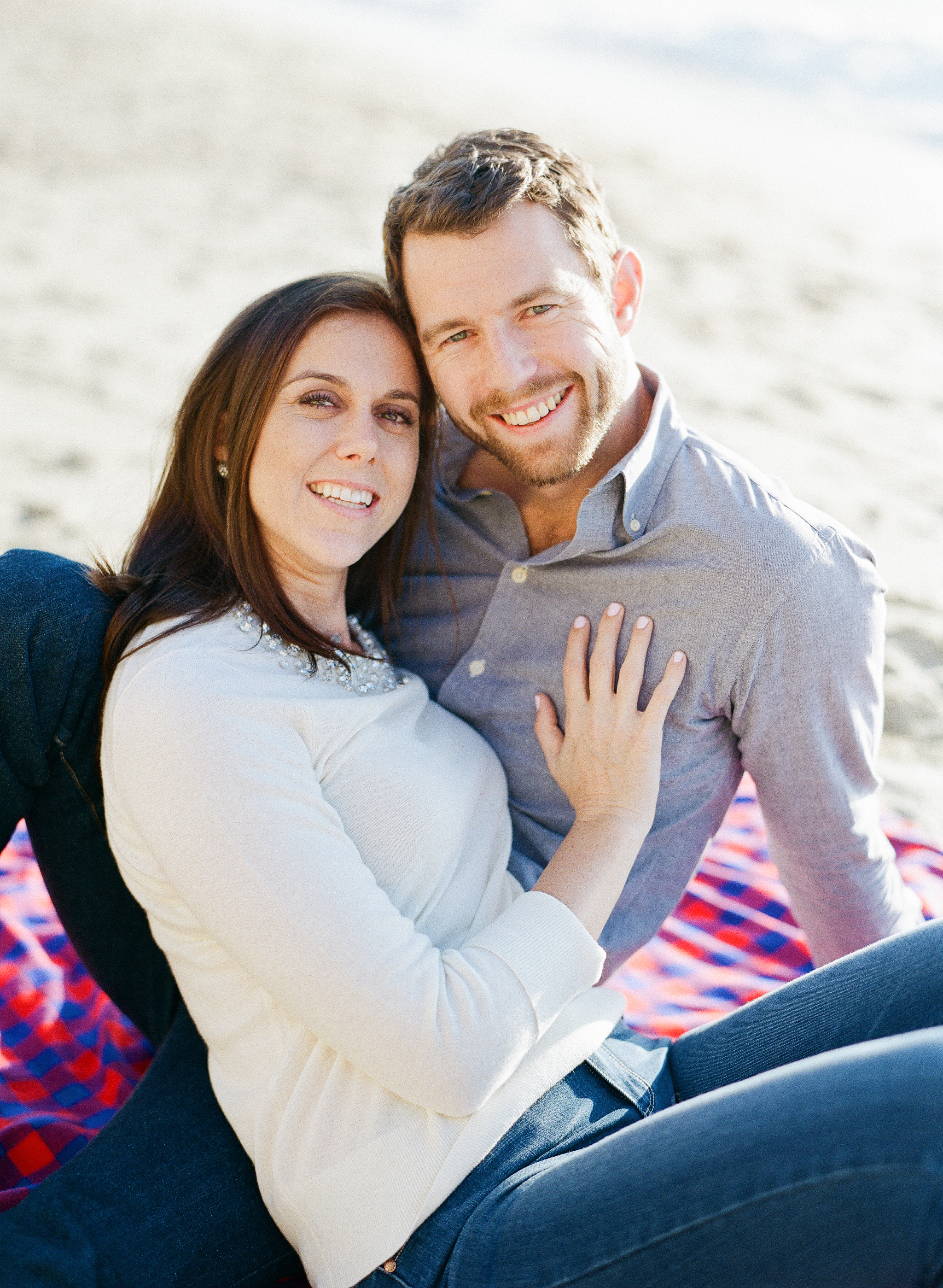 Engagement photo shoot on a Northern California beach; Sylvie Gil Photography