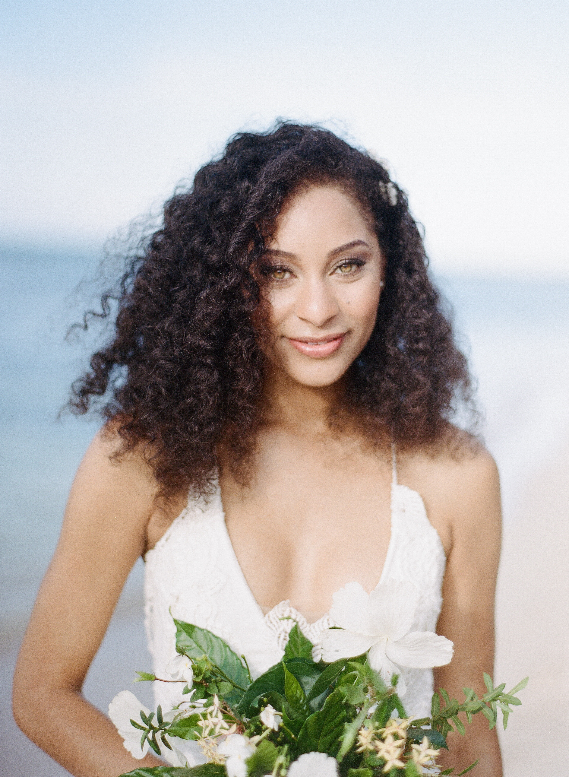 Caribbean bride for tropical style shoot; Sylvie Gil Photography