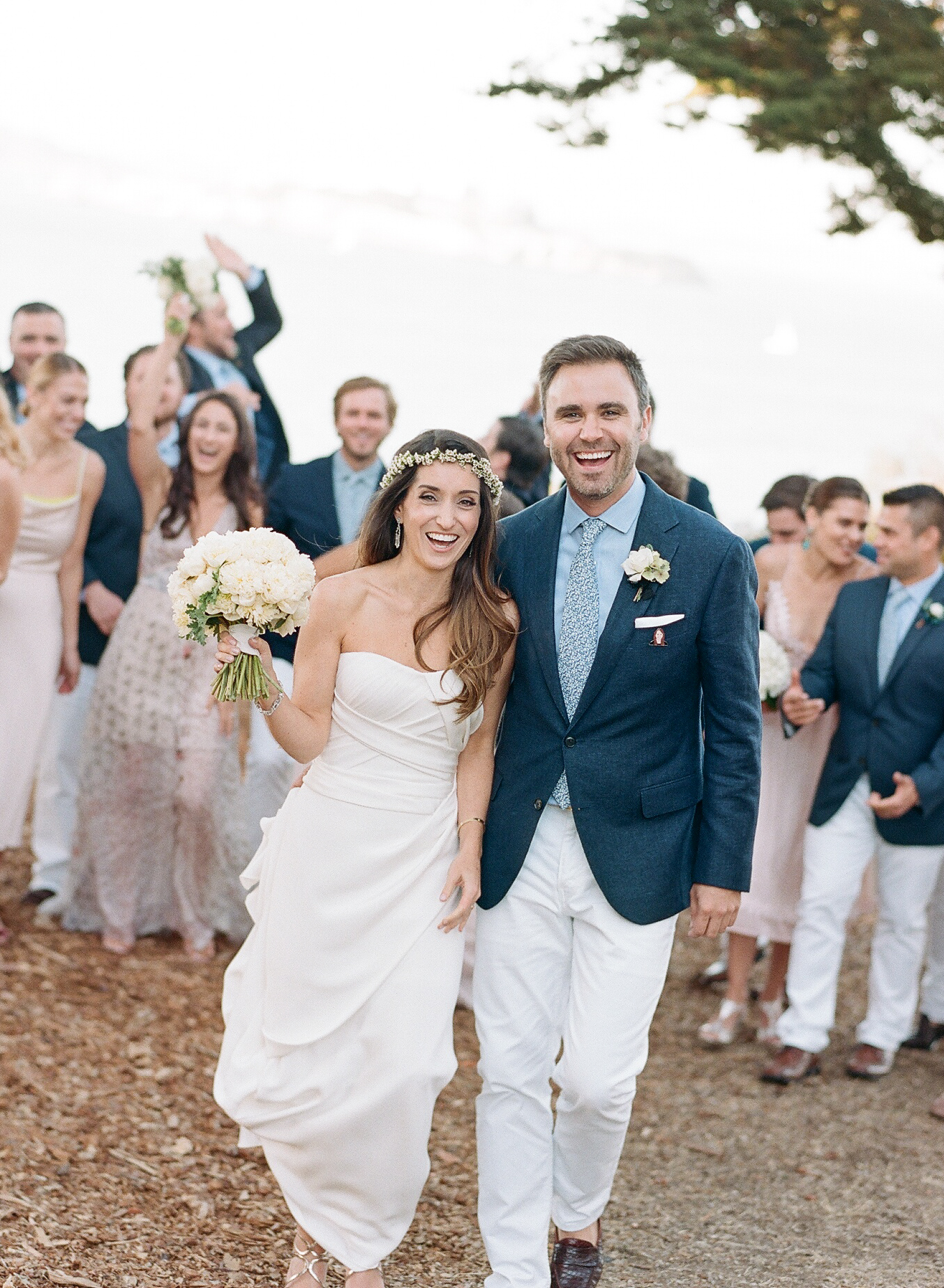 Heather & Crain with their bridal party in San Francisco
