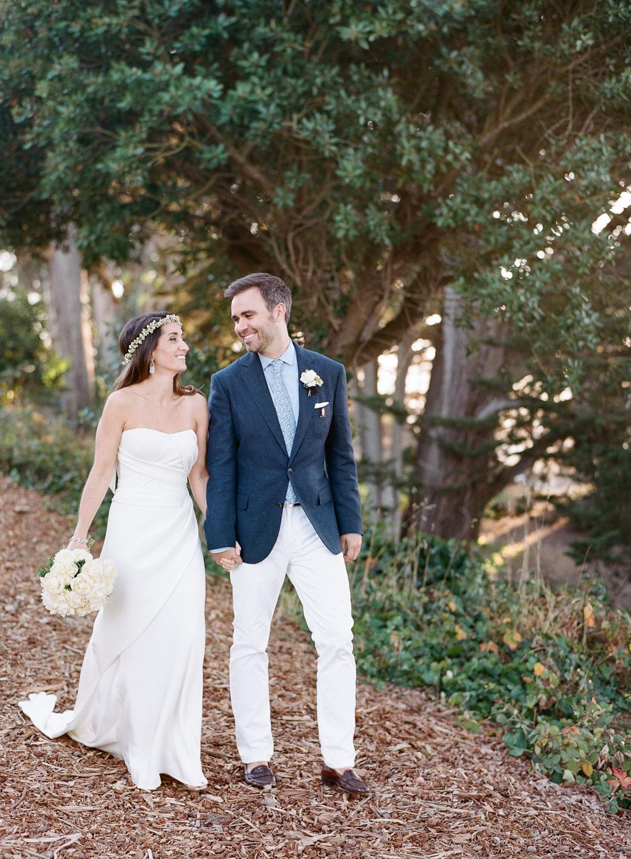 A couple shoot before the wedding next to the San Francisco Bay; Sylvie Gil Photography