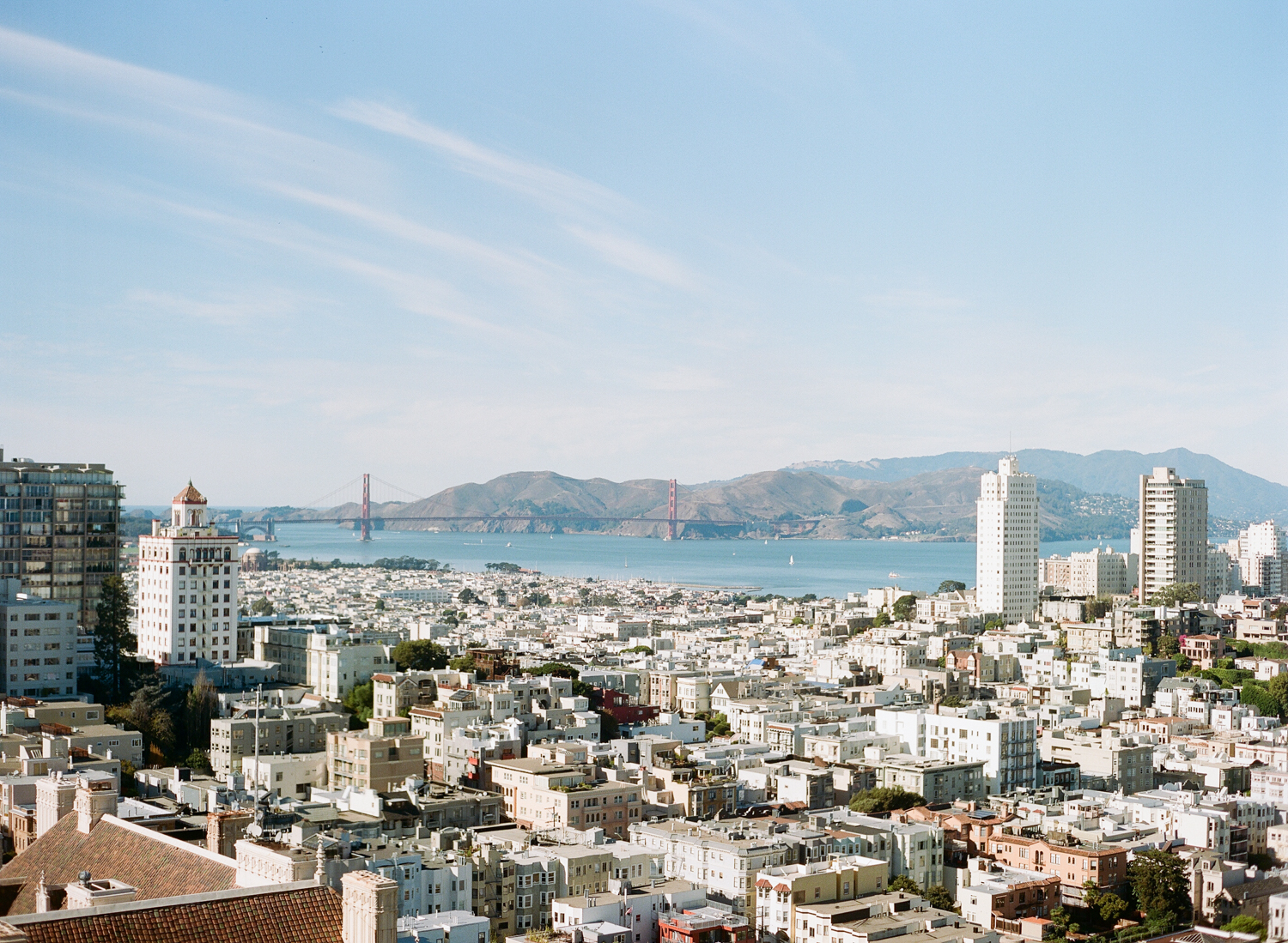 The San Francisco skyline as viewed from the Flood Mansion; Sylvie Gil Photography