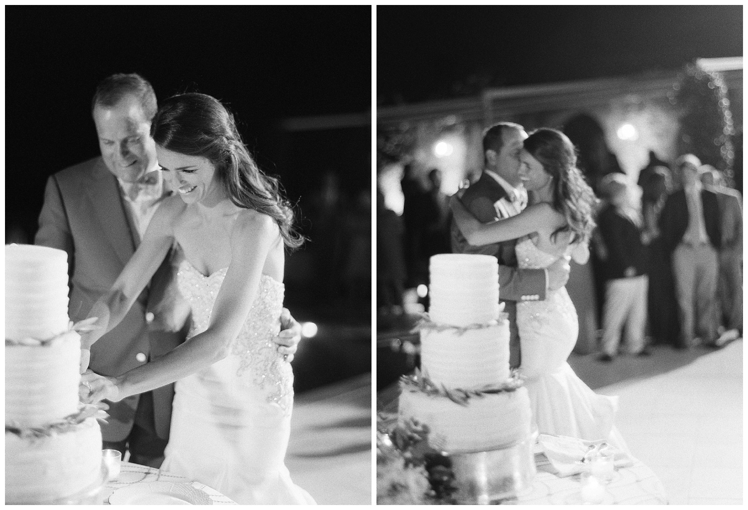 The couple cuts the cake and dances the night away after their wedding in Ravello Italy, Sylvie Gil Photography