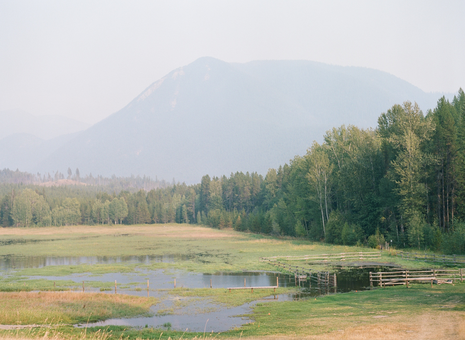 A panorama of the foothills of Glacier National Park near Whitefish, Montana; Sylvie Gil Photography