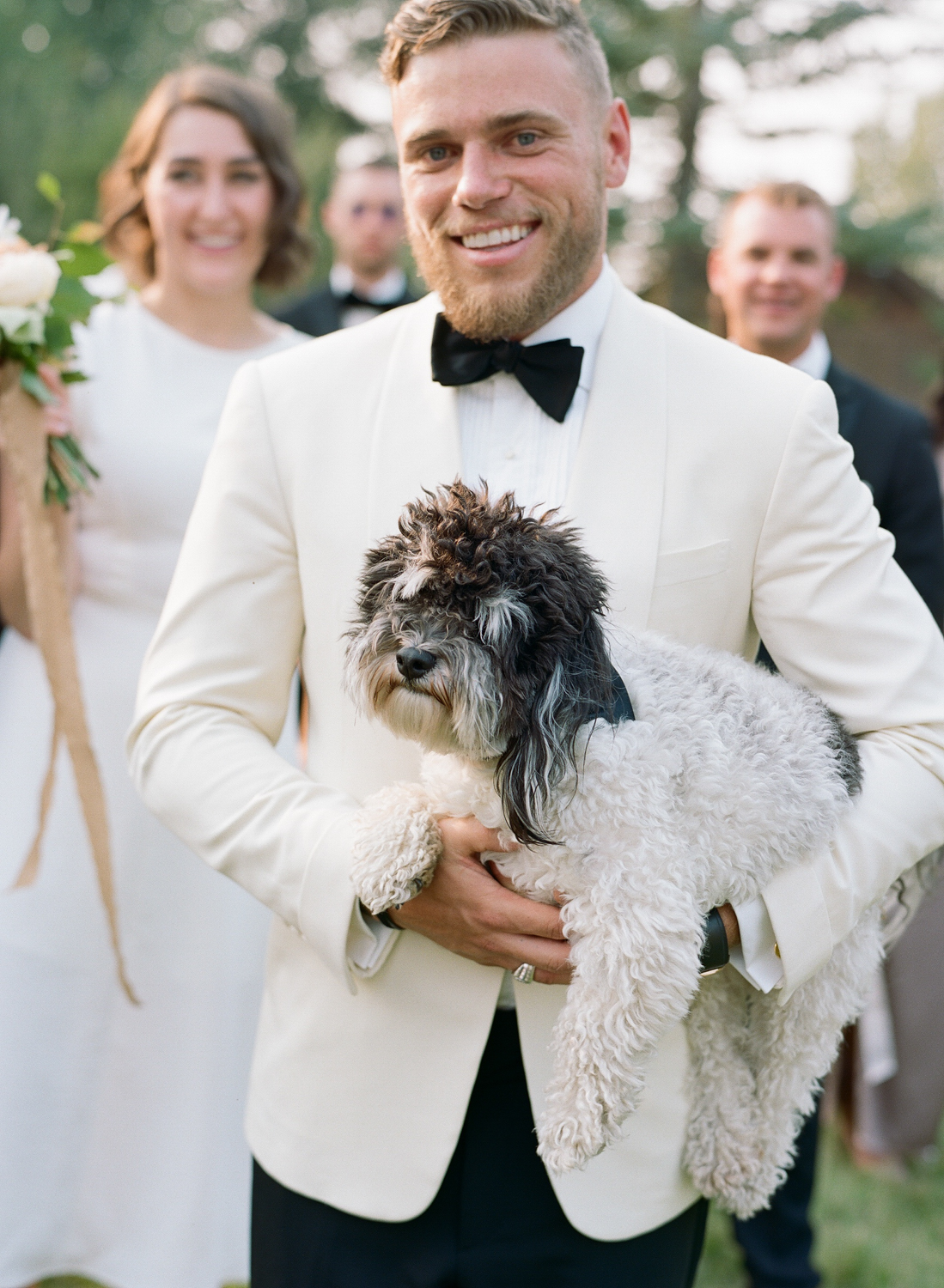 Olympic skier Gus Kenworthy officiated at this Glacier National Park wedding; Sylvie Gil Photography