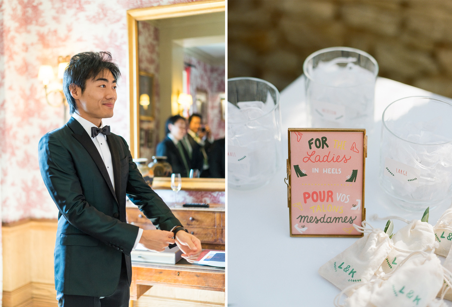 The groom before the ceremony in Gordes, France; Sylvie Gil Photography