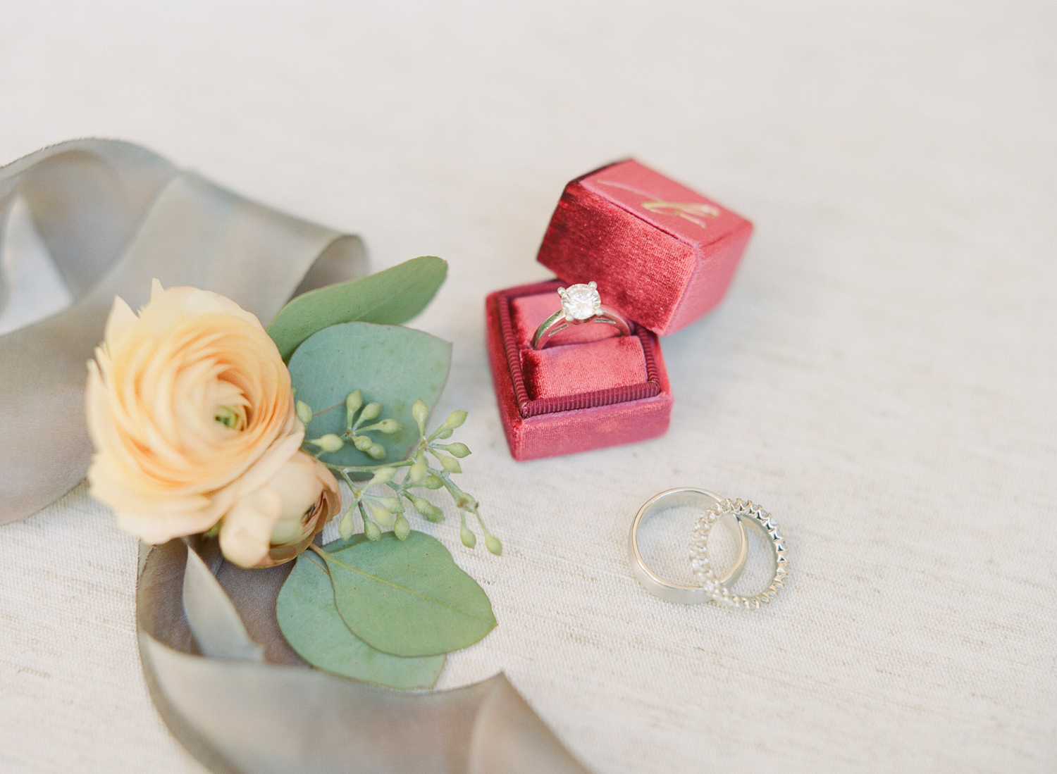 Bride and groom's rings; Sylvie Gil Photography