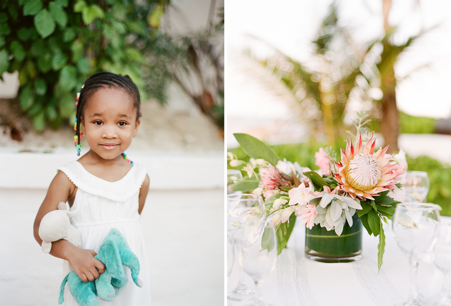A young guest at a Montego Bay wedding; Sylvie Gil Photography