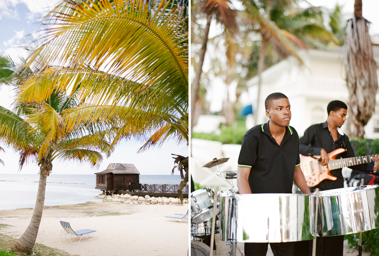 A steel drum player at a wedding in Montego Bay, Jamaica; Sylvie Gil Photography
