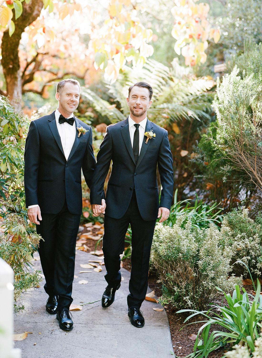 A couple portrait before the wedding ceremony in St. Helena wine country; Sylvie Gil Photography