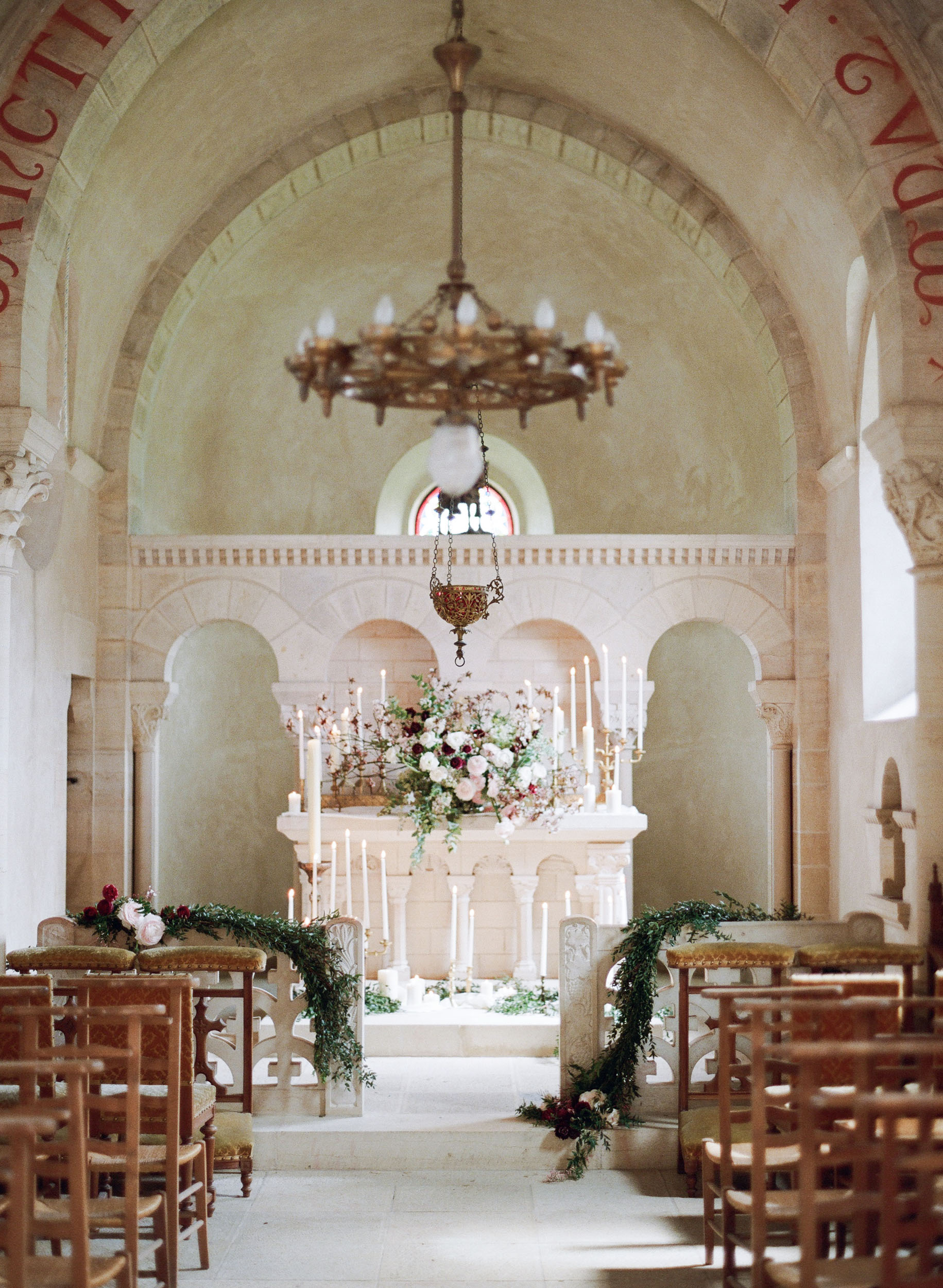 A wedding ceremony in a chateau in Burgundy, France; Sylvie Gil Photography