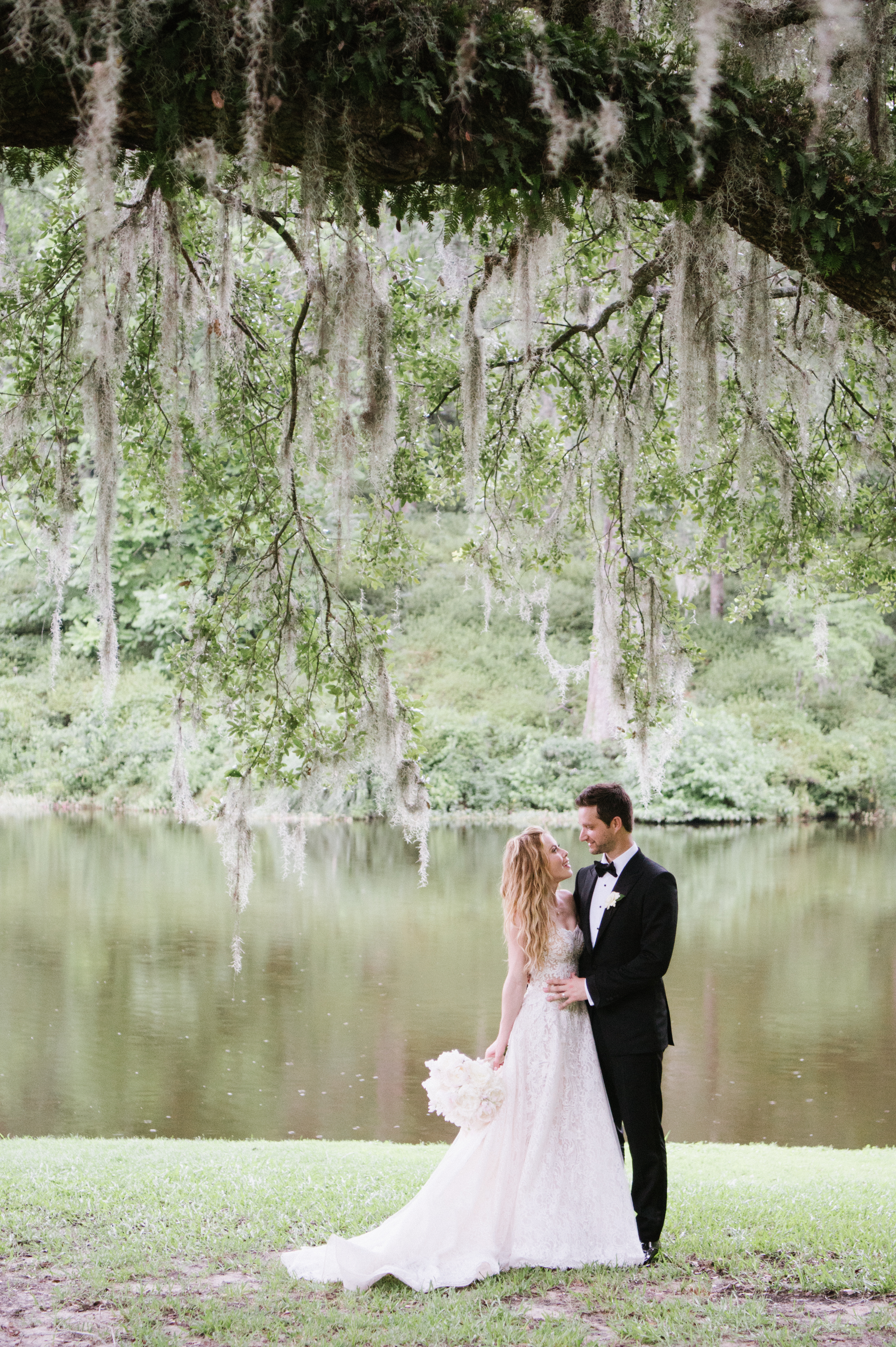 Tara Lipinski and Todd Kapostasy after their wedding in Charleston, South Carolina; Sylvie Gil Photography