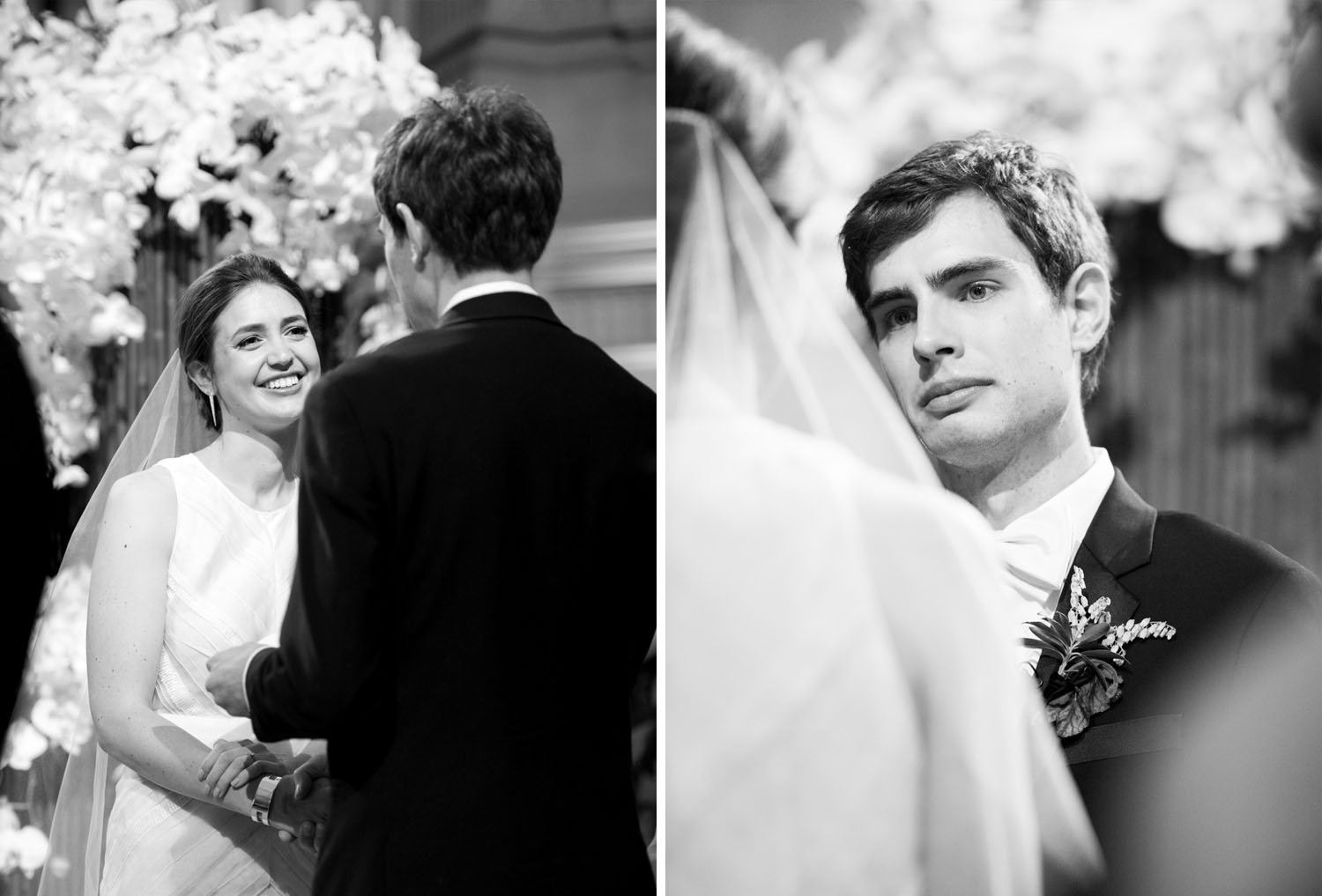 Bride and groom exchange vows at San Francisco City Hall; Sylvie Gil Photography