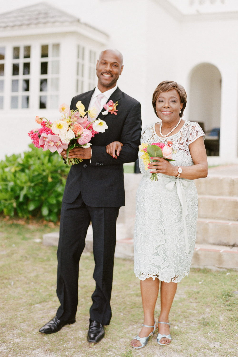 Mother and brother of the bride before the Half Moon wedding at Montego Bay; Sylvie Gil Photography