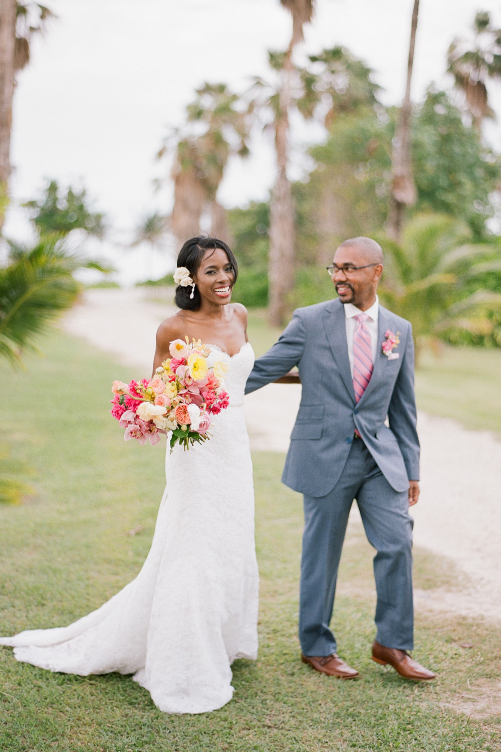 Bride and groom couple session after a Montego Bay, Jamaica ceremony; Sylvie Gil Photography