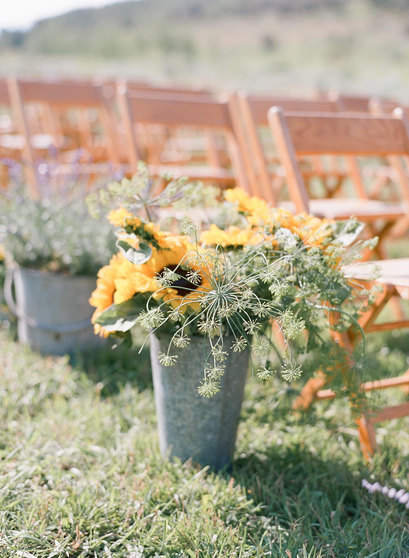 wedding flowers, sunflower design, wedding ceremony, Sylvie Gil Photography