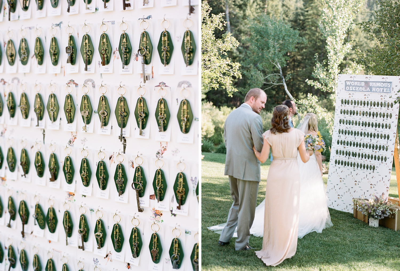 World Famous Osceola Hotel, Escort Card Display, Reception Decor, Equestrian bride, equine bridal photography, country wedding, wildhorse and bride, Sylvie Gil Photography