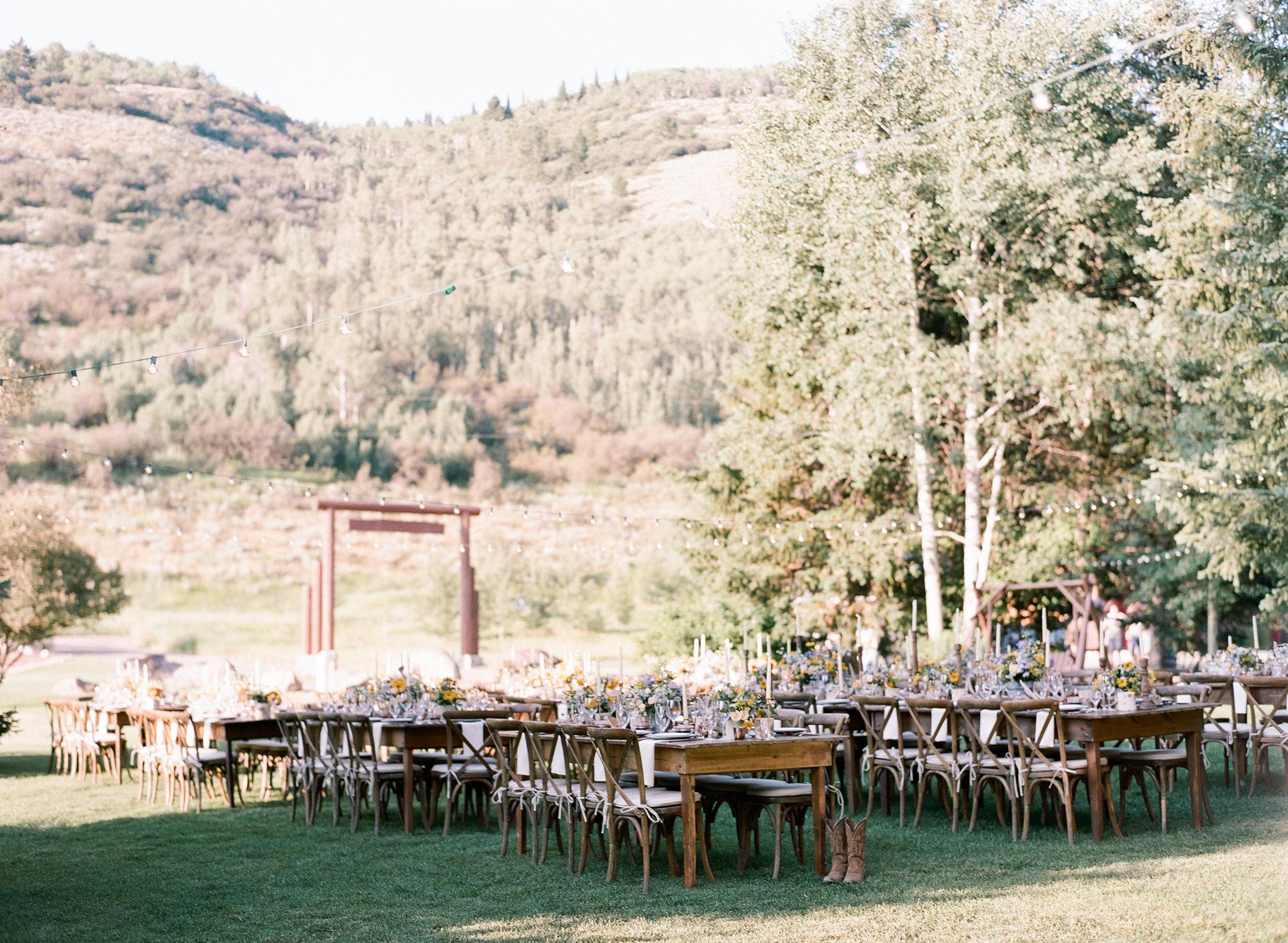 Country wedding decor, Wyoming wedding decor, Sylvie Gil Photography