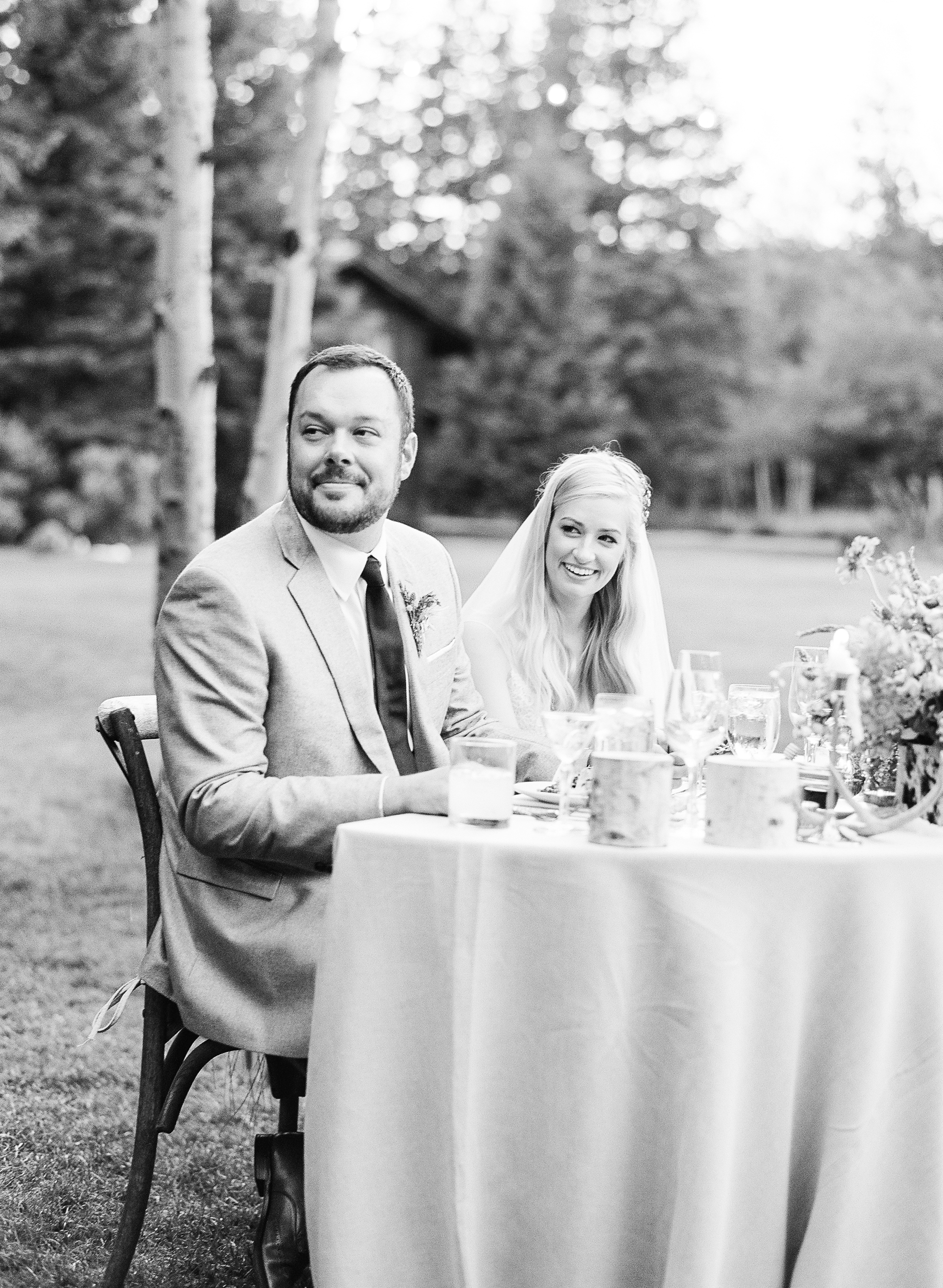 New hollywood couple listens to the speeches from best man, maid of honor and parents and get emotional, Sylvie Gil Photography