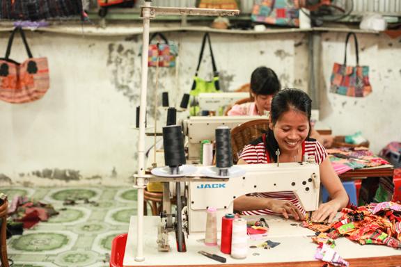 inside the artisan workshop outside of hanoi, vietnam