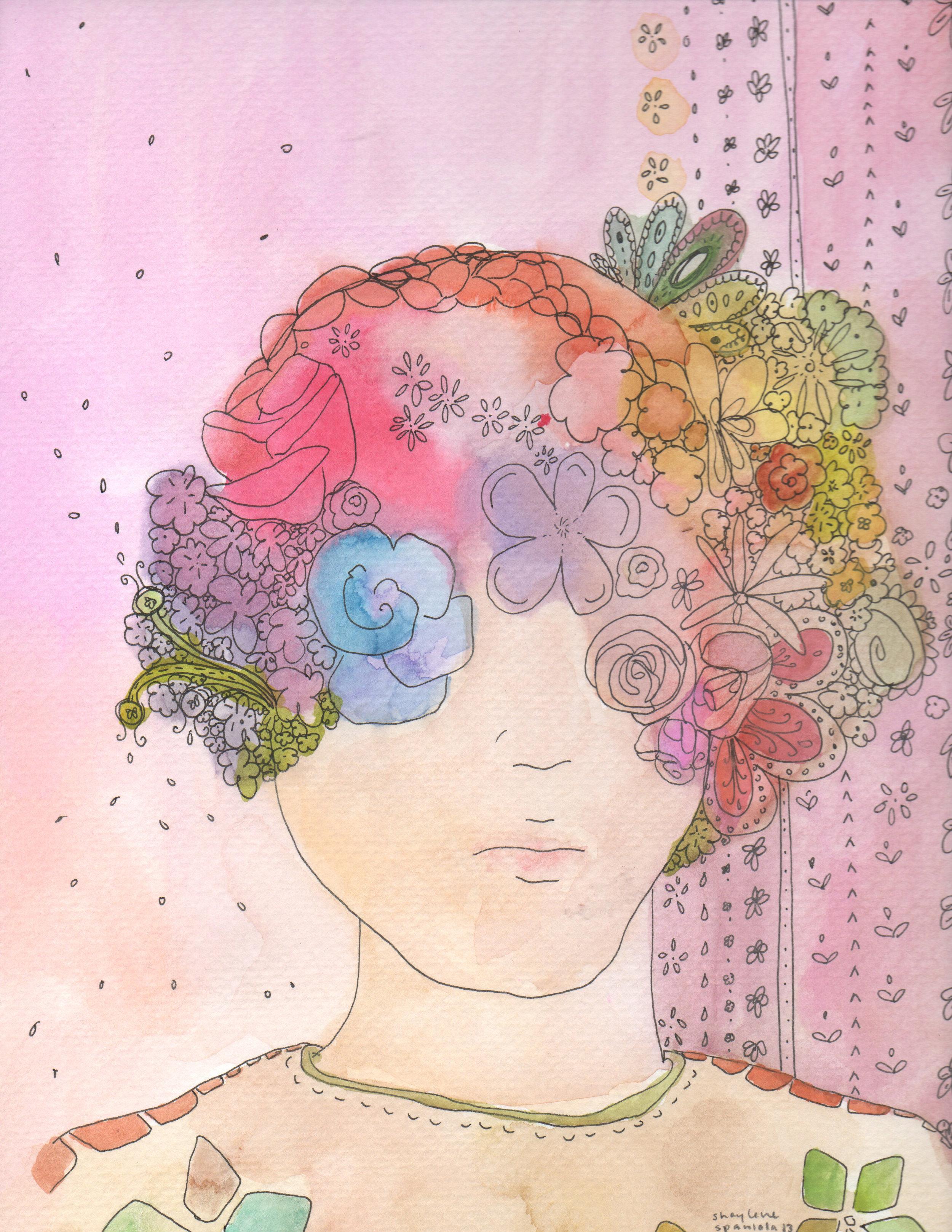 Flower Art Print by Shay Spaniola