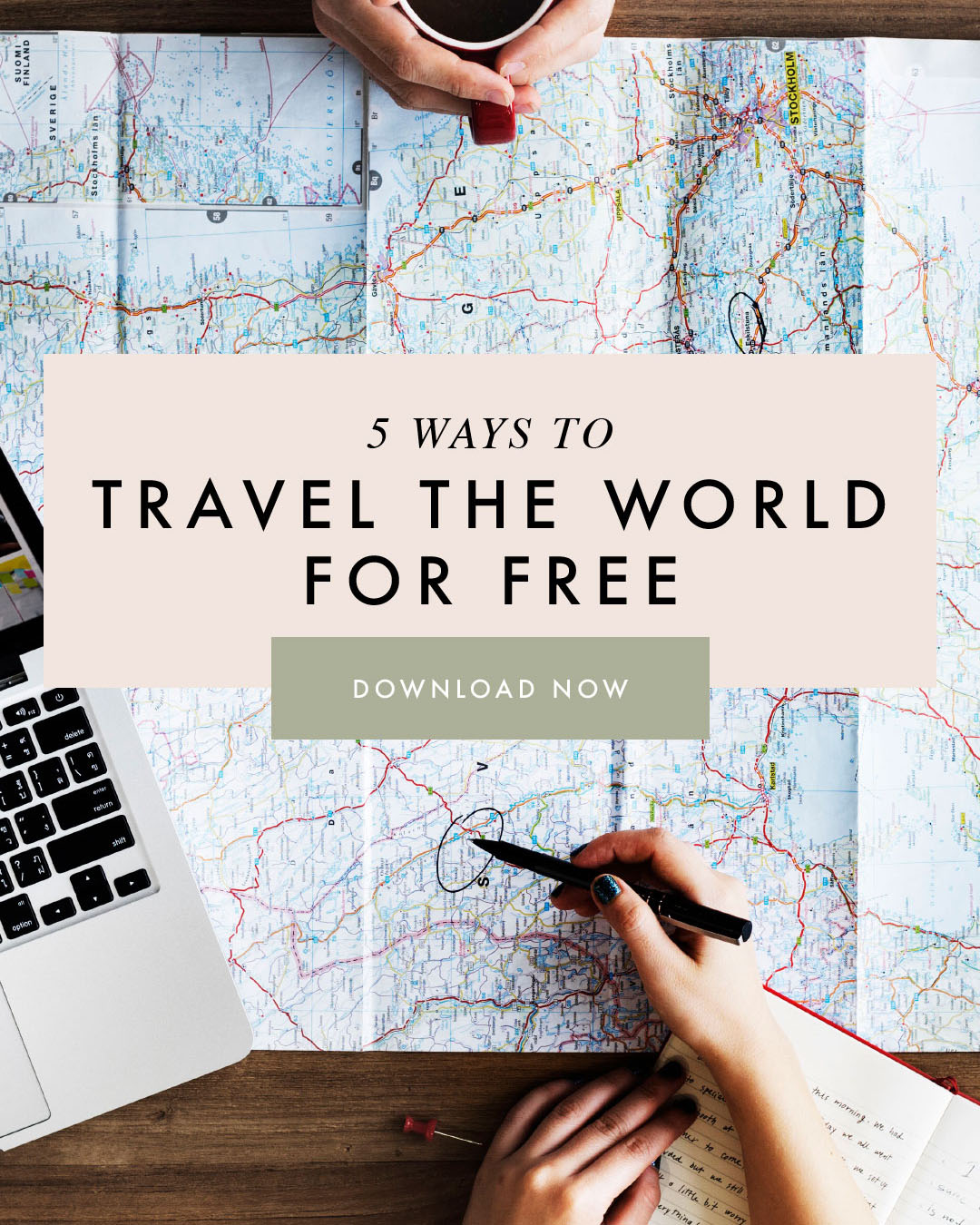 5 Ways to Travel the World for FREE - Digital Download Shay Spaniola