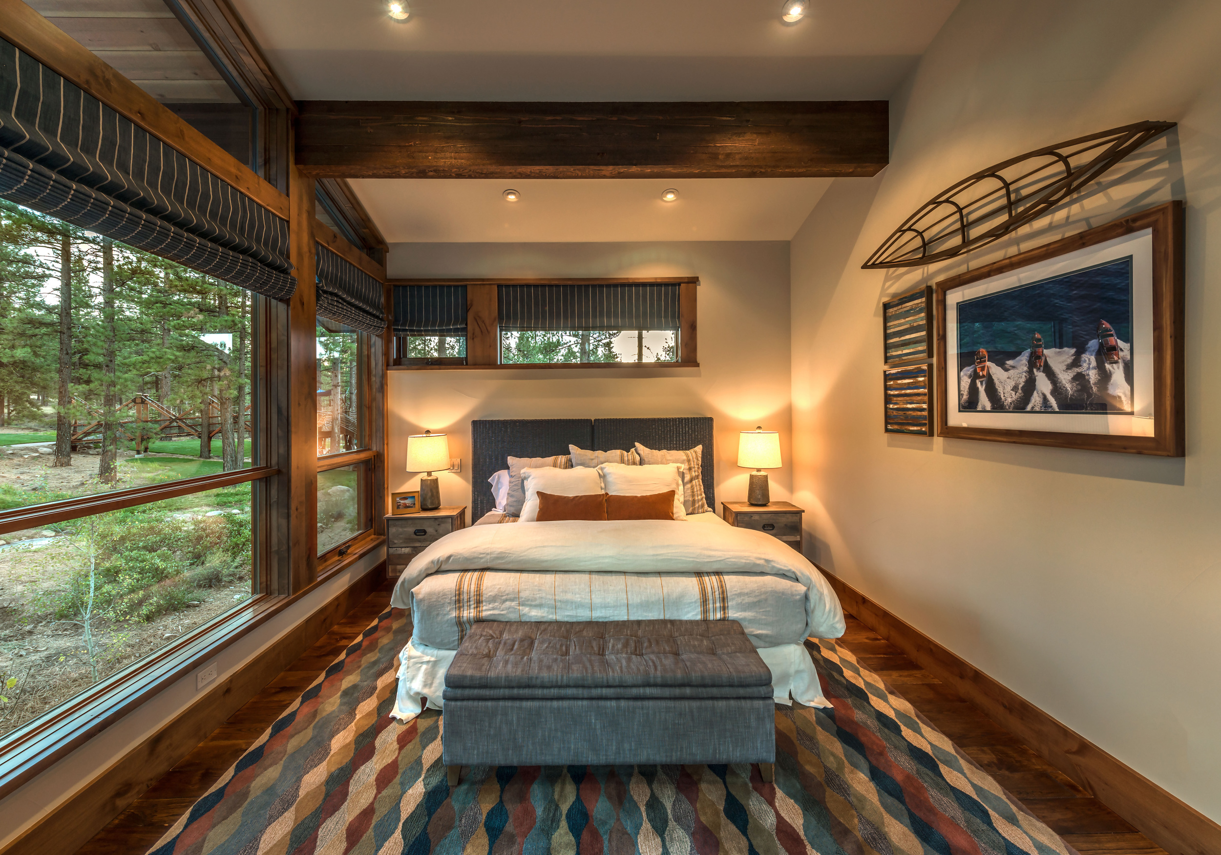 Contractor: Jim Morrison Construction    Interior Finishes + Furnishings: WaltonAE  Photography: Vance Fox Square Footage: 4,242 sf bedrooms: 5 bathrooms: 5.5