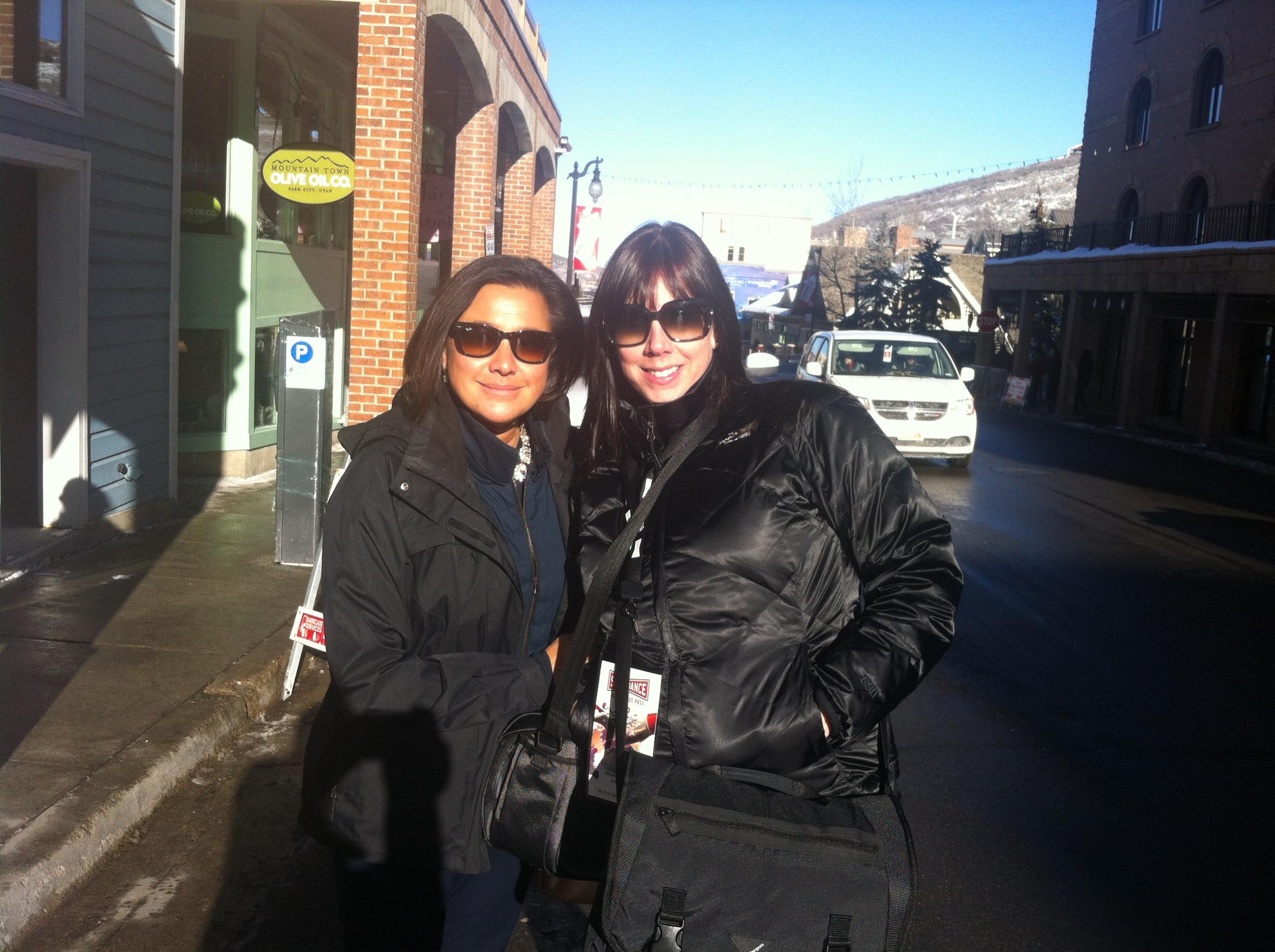 IndieFlix CEO, Scilla Andreen & COO, Kristie Lanum at the Sundance Film Festival