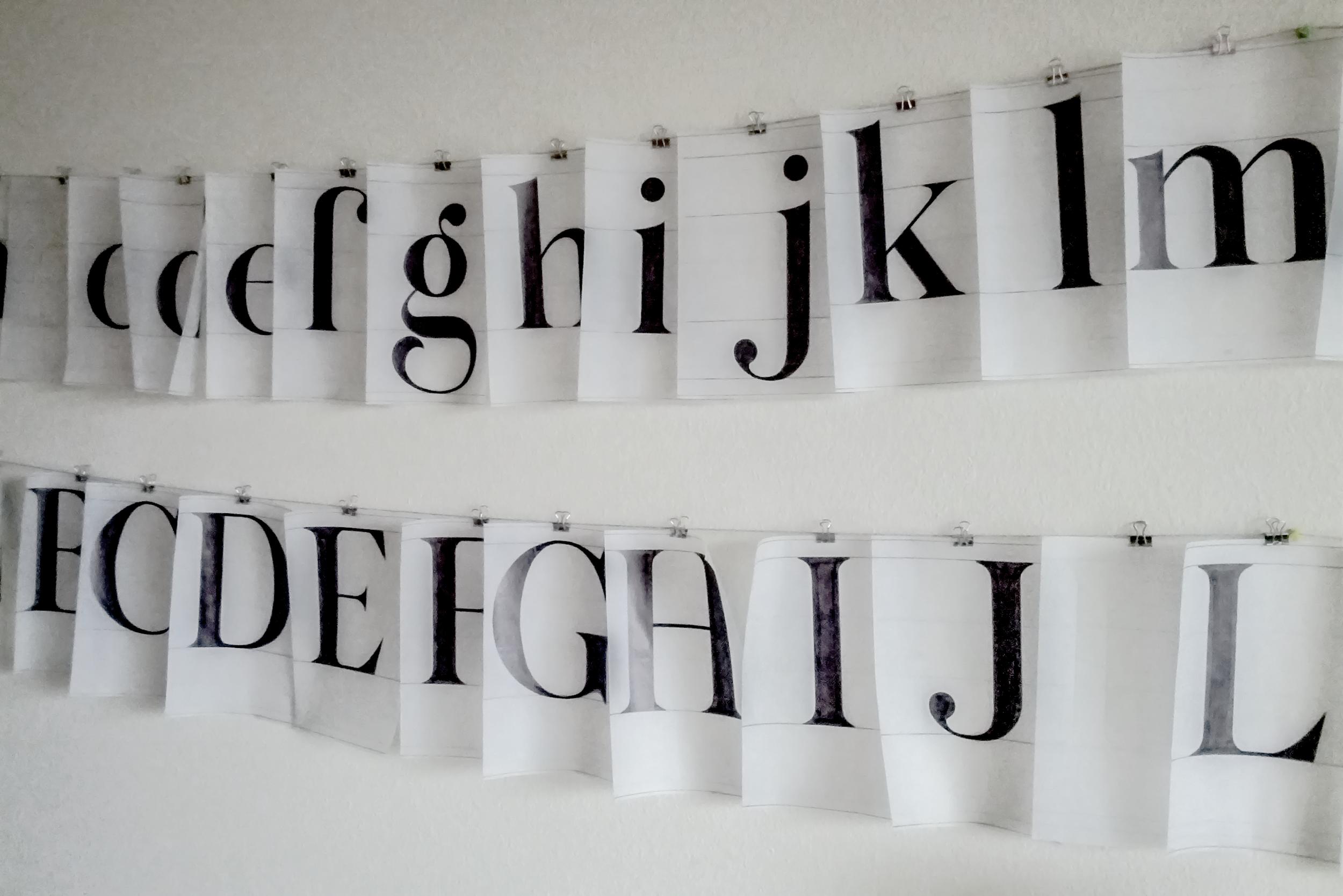 Copy of Letters in progress