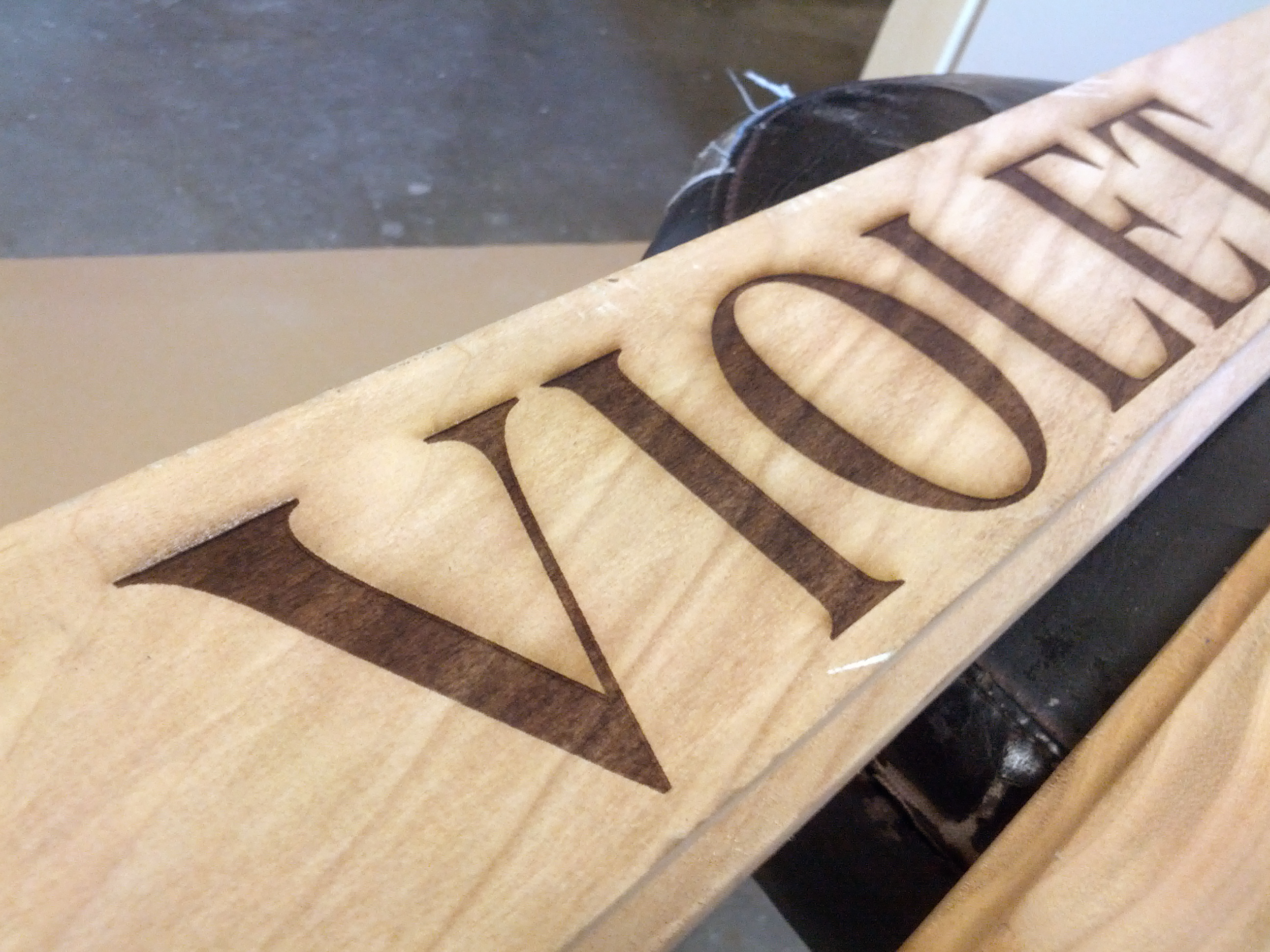 Copy of Experimenting with laser etching