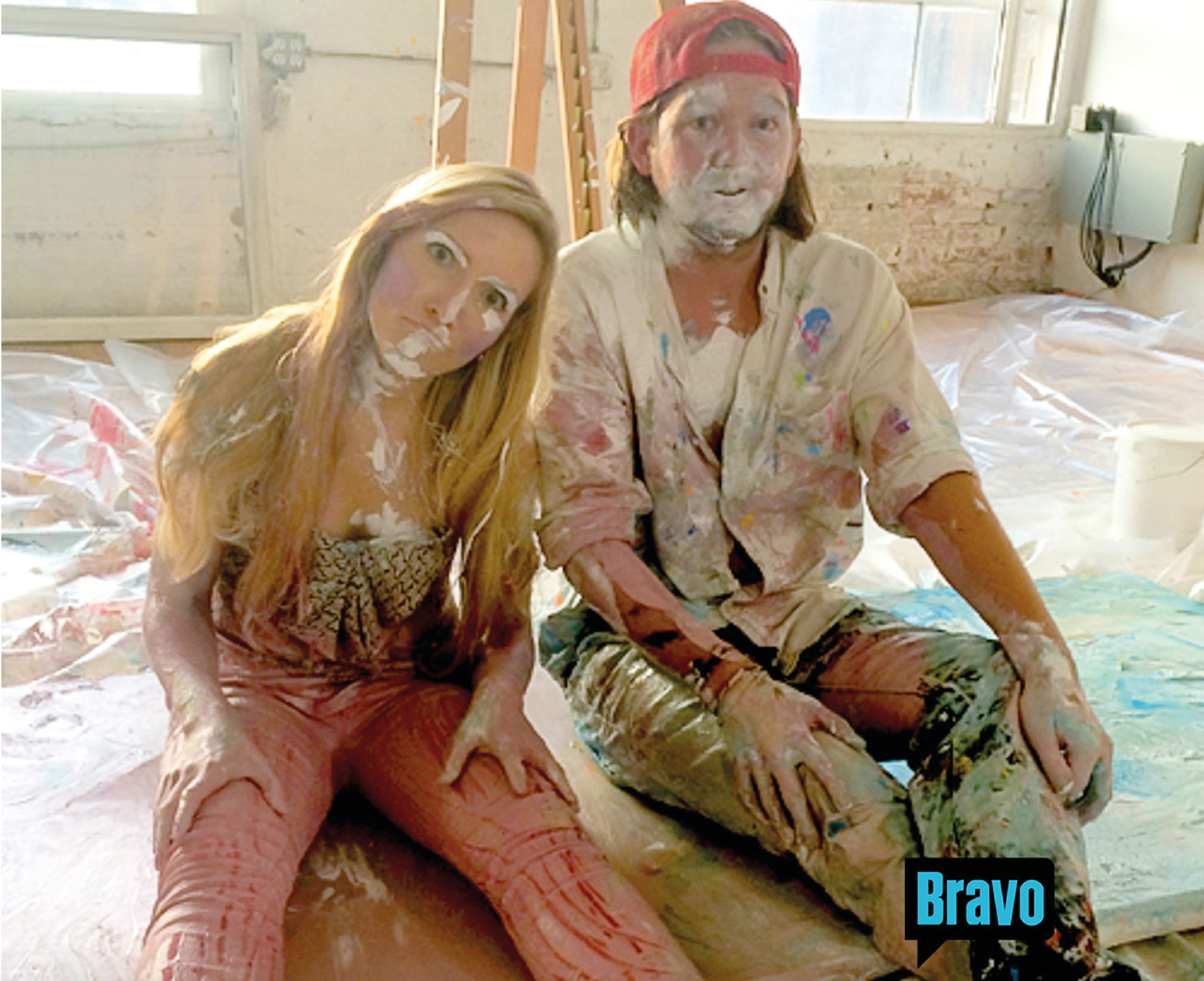 """Tripp and Kerry have a paint date on Bravo's TV show """"The Singles Project"""" in summer of 2014"""