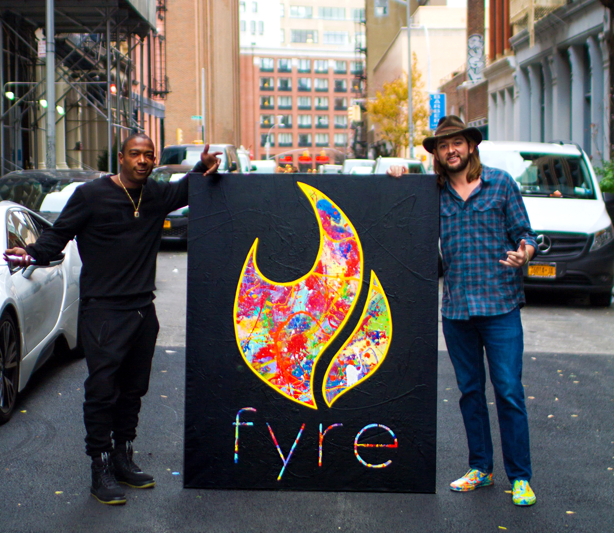 Delivery of Rap Artist Ja Rule's commissioned logo. FYRE is the name of his new talent agency