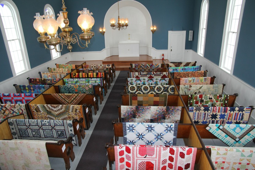 Quilts will also be on display in the historic St. Paul's Church at Port Gamble.