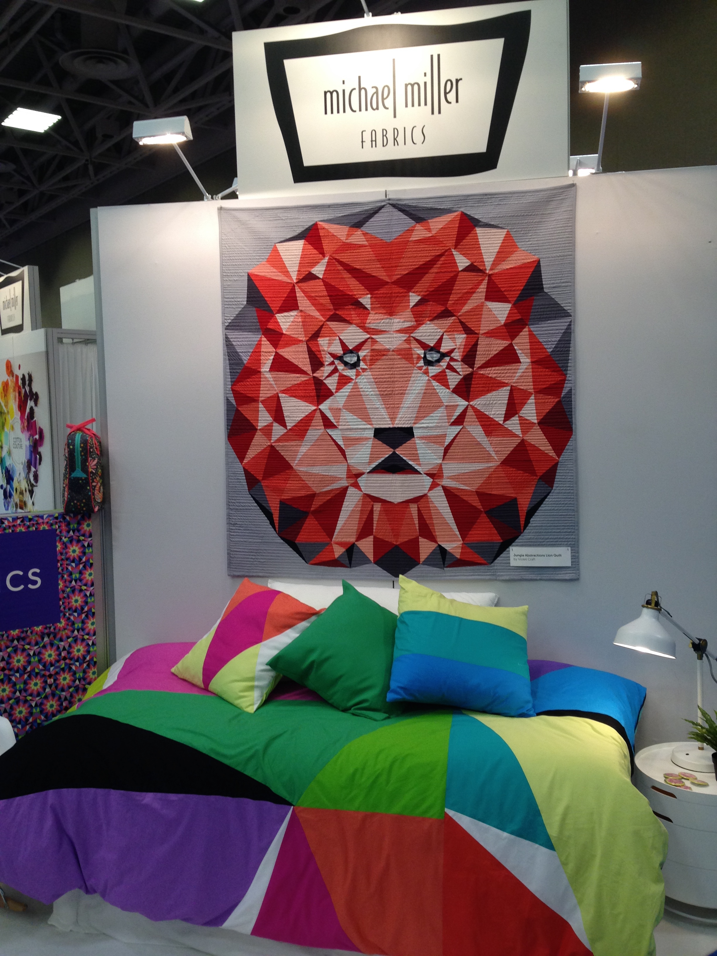 Lion quilt in Michael Miller booth