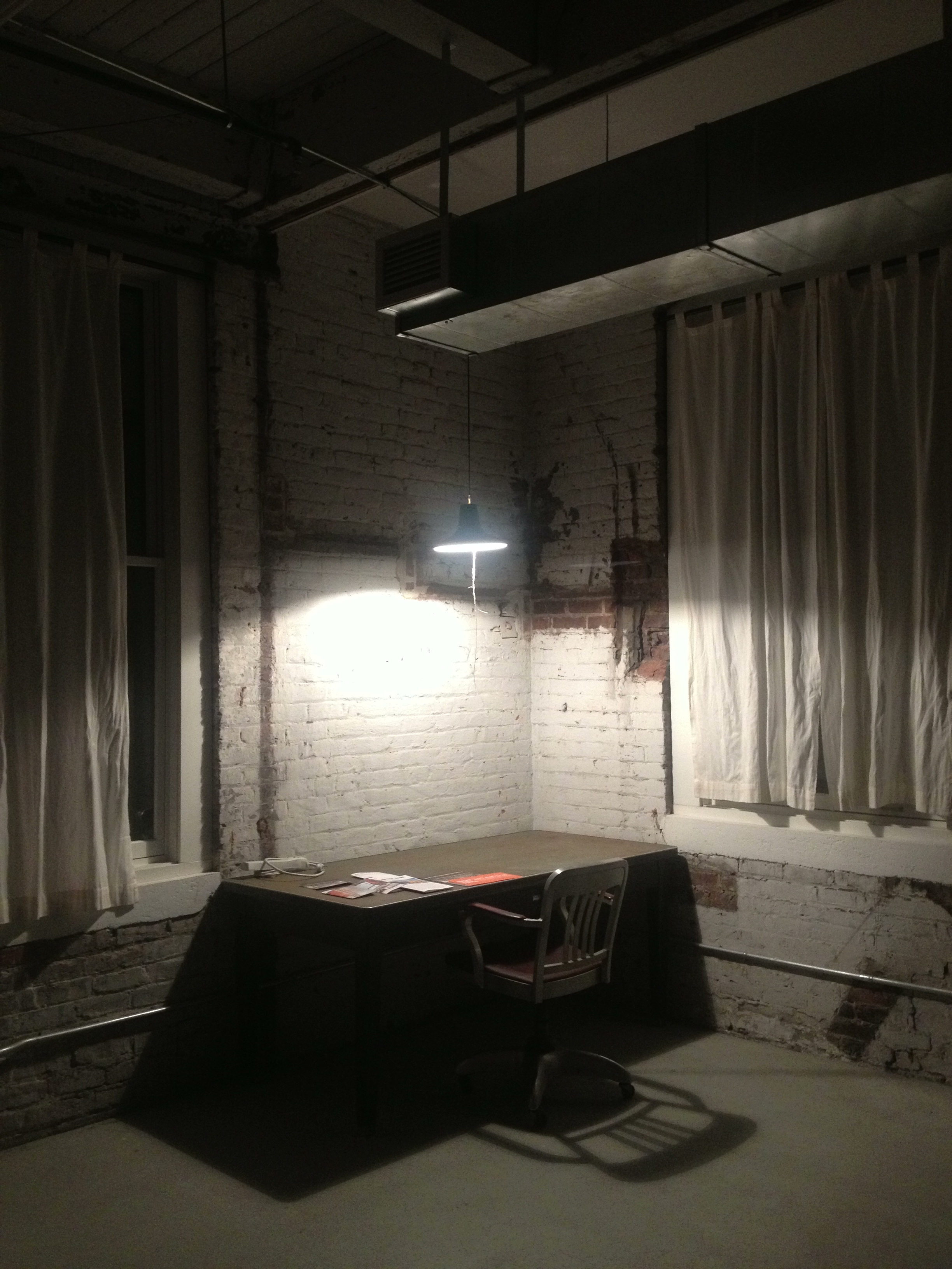 It was really nice, with tall ceilings and huge windows, an archetype of the artist's loft.