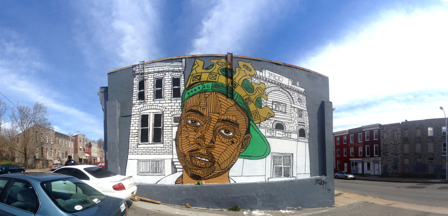 A Nether mural in  memory of local rapper Smash .