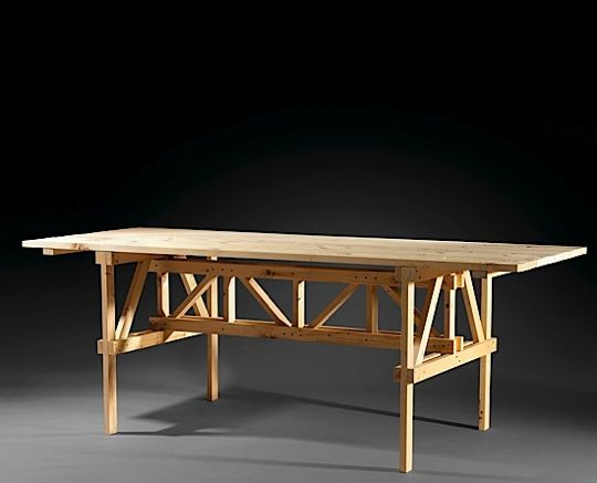 Tavolo rettangolare (rectangular table), via  Apartment Therapy.  All the tables in the book are named tavolo rettangolare , as if even giving them names was too much artifice.