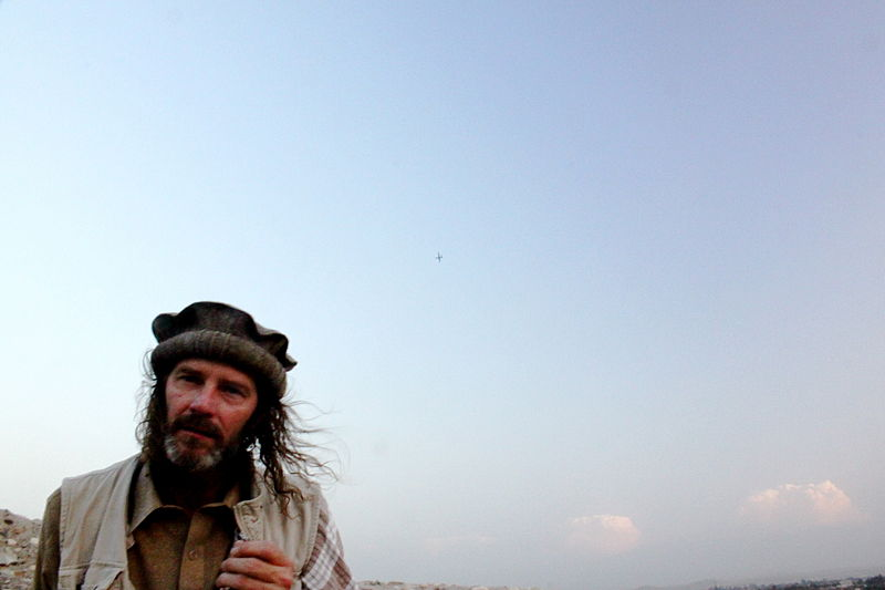 The tiny speck above the left shoulder of this Afghan man is a Predator drone.  From Wikimedia Commons.