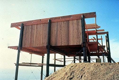 Koenig's Burton House under construction.