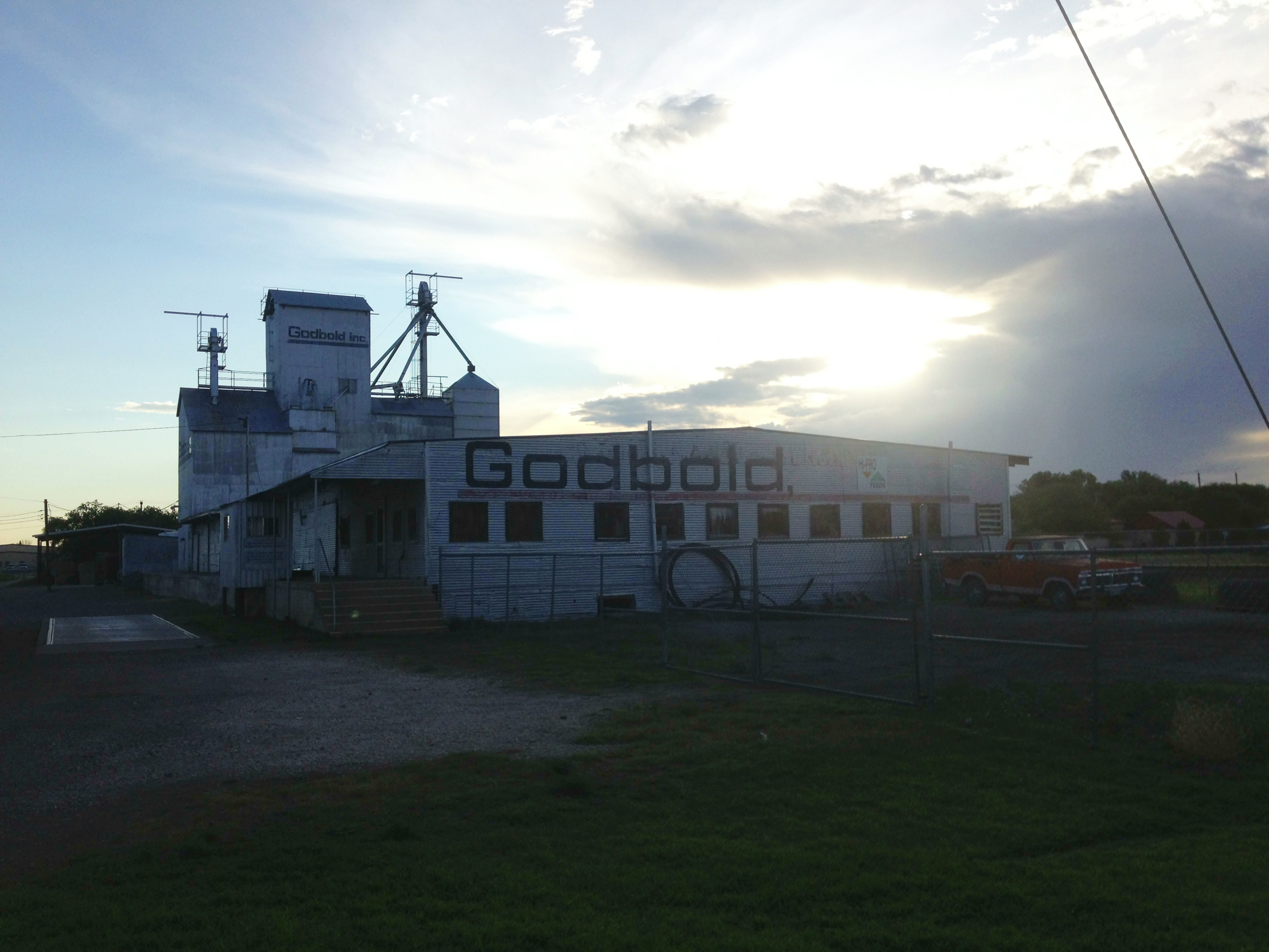 Grain elevator in Marfa, Texas.  Taken on our road trip there this summer.