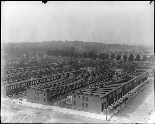 Hughes Company rows, Canton, ca. 1905. Via Maryland Historical Society.