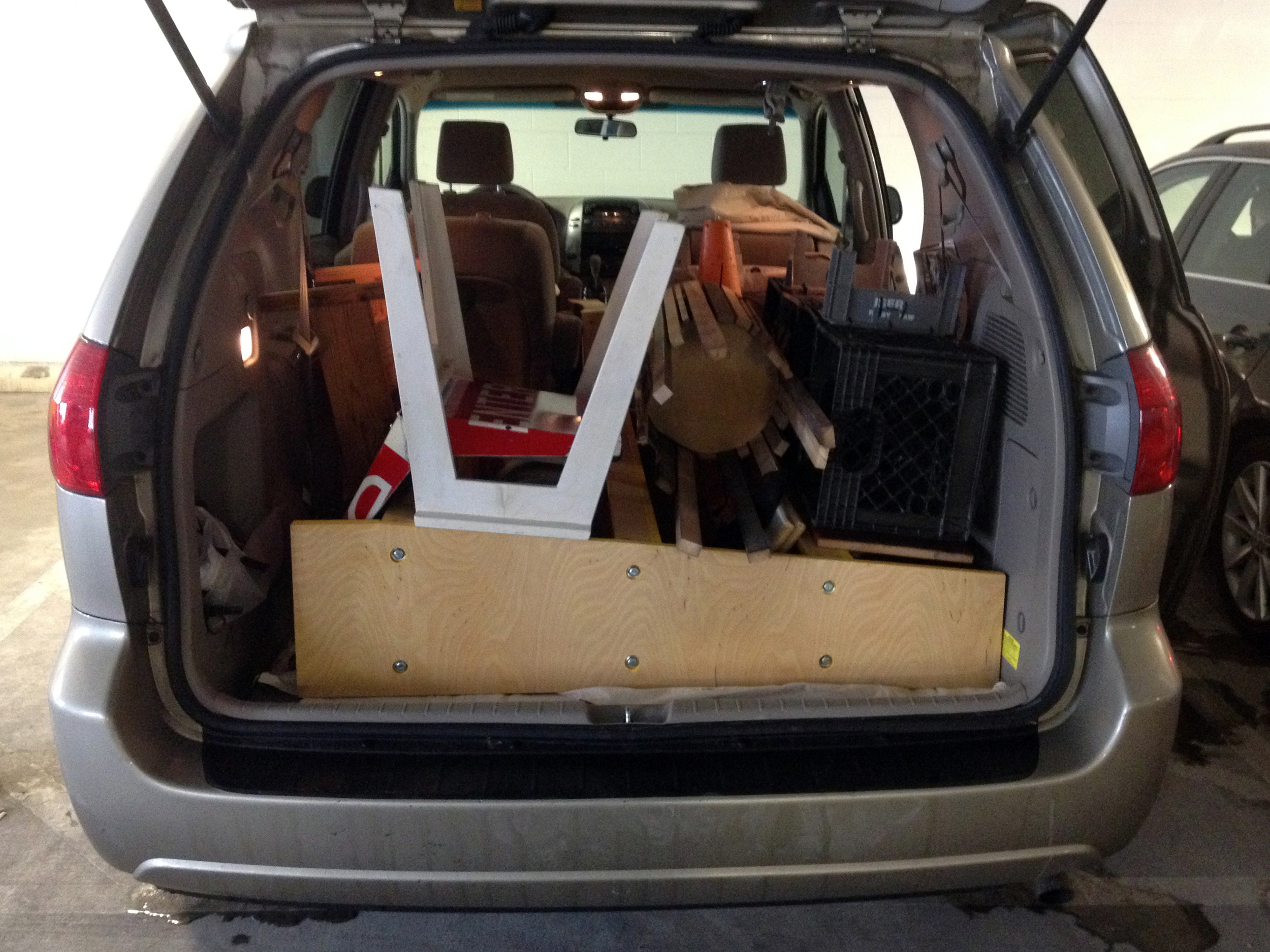 Four borrowed-minivan-loads . . .