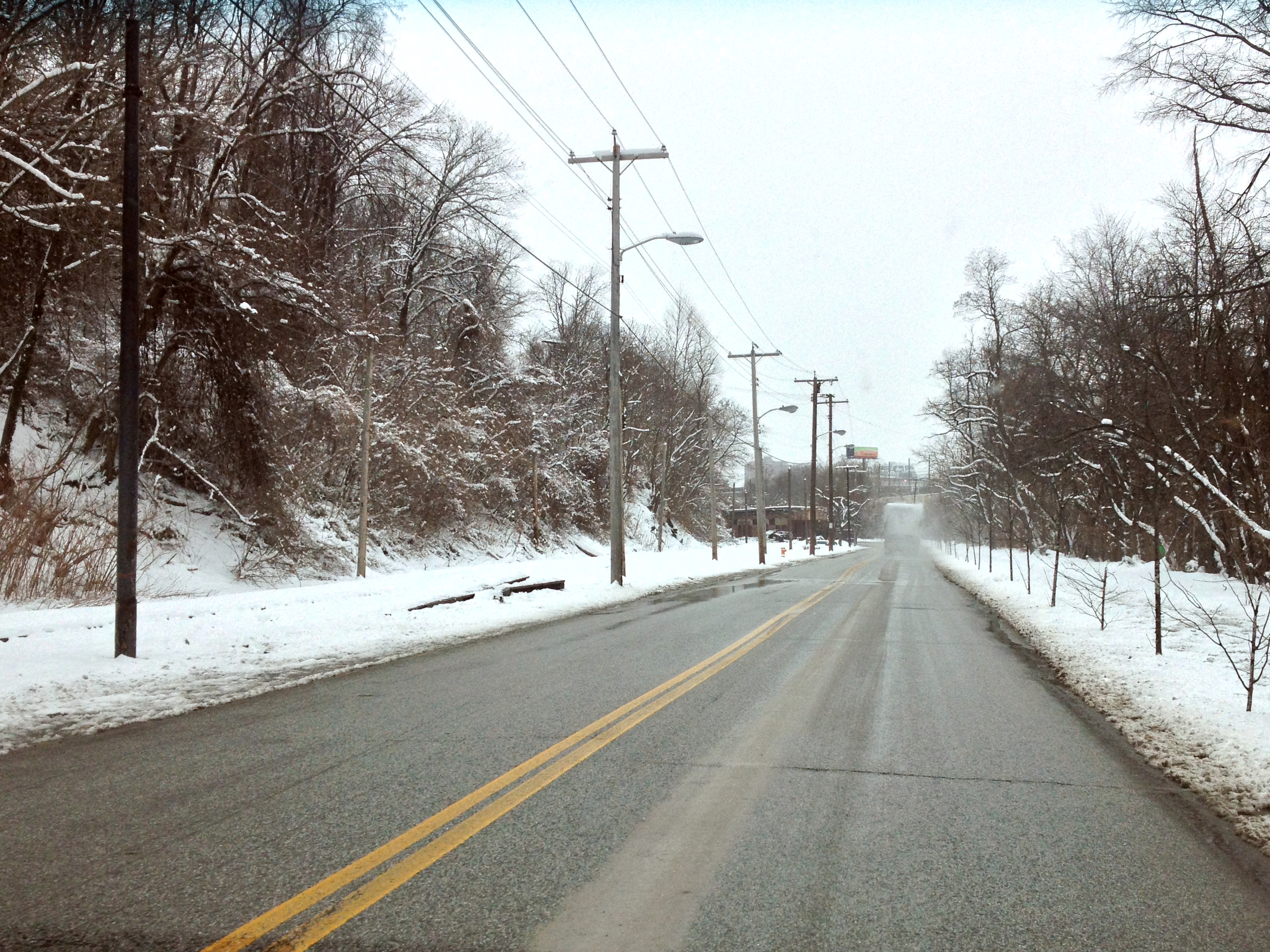 . . . over snowy roads . . .