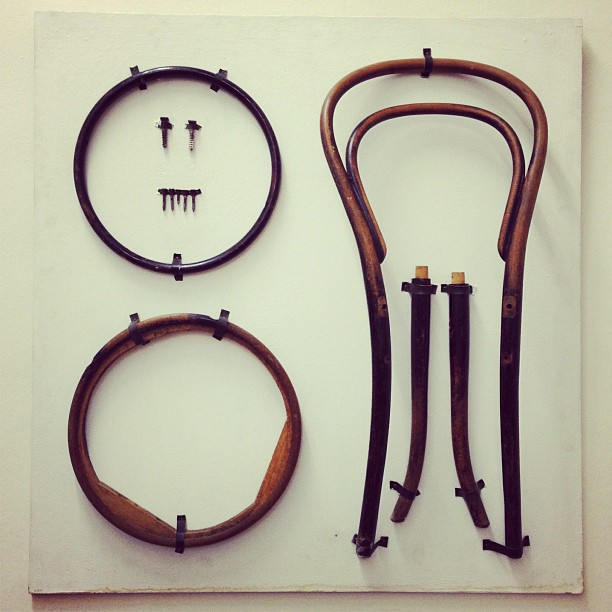 Chair No. 14, disassembled, via  Things Organized Neatly .
