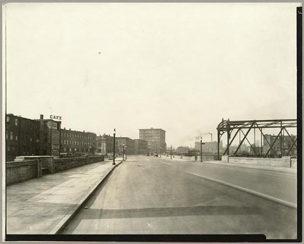 The Fallsway circa 1920,  courtesy of Maryland Historical Society.